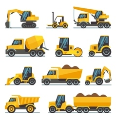 Industrial construction equipment and machinery vector