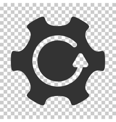 Rotate gear icon vector