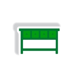 Stylish icon in paper sticker style fashion office vector