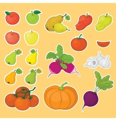 Vegetables and fruits set vector