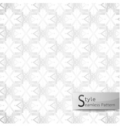 Abstract seamless pattern flower cross white vector