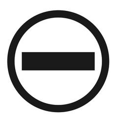 No entry sign line icon vector