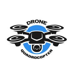 Video drone quadrocopter logo vector