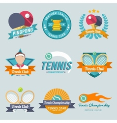 Tennis label set vector