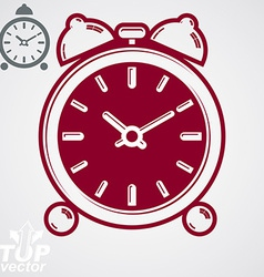 3d alarm clock vector