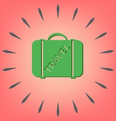 Symbol of a suitcase for travel travel bag vector