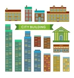 City buildings set vector image