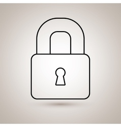 Padlock icon design vector