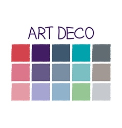 Art deco color tone without code vector