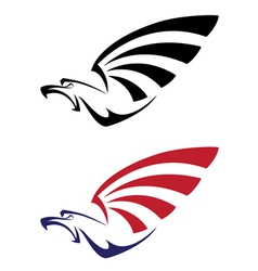 set eagle vector image