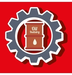 Signal of barrel oil isolated icon design vector