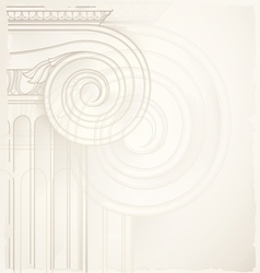 architectural backgound ionic capital vector image vector image