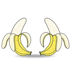 banana on white background vector image