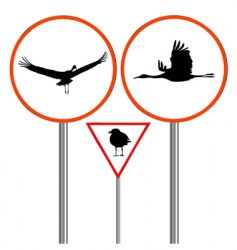 birds traffic sign vector image vector image