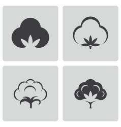 black cotton icons set vector image vector image