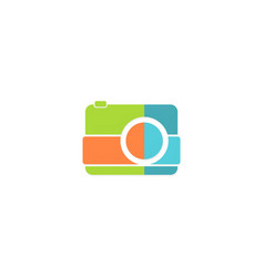 camera photo logo vector image