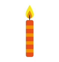 candle flame birthday isolated icon vector image