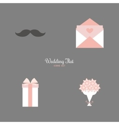 Cute Wedding Objects vector image vector image