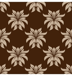 Dainty brown floral seamless pattern vector image vector image