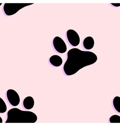 Dog paw zoo pattern for animal and textile vector