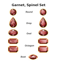 Garnet Spinel Set With Text vector image vector image