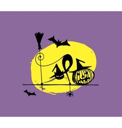Halloween night for your design vector image vector image