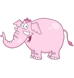 Happy Pink Elephant vector image