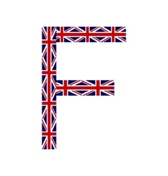 Letter F made from United Kingdom flags vector image vector image