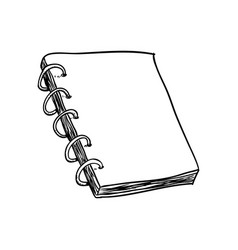 note book draw vector image vector image