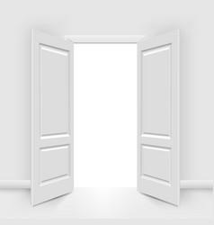opened doors vector image vector image