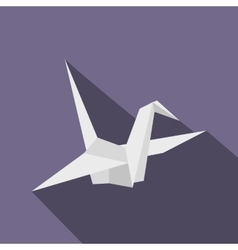 Paper Dove icon flat style vector image vector image
