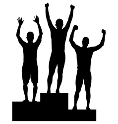 Podium celebrations vector image vector image