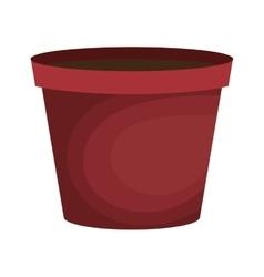 pot graden empty icon vector image vector image