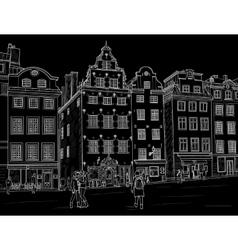 Sketch stortorget in stockholm vector