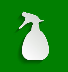Spray bottle for cleaning sign paper vector