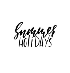 summer holidays hand drawn lettering vector image vector image