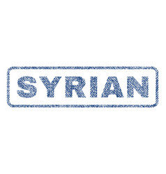 Syrian textile stamp vector