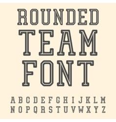 Vintage font slab serif retro typeface vector