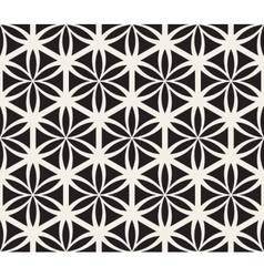 Seamless black and white flower of life vector
