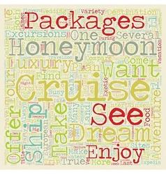 Take an unforgettable dream honeymoon cruise text vector