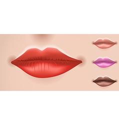 Set of big lips vector image