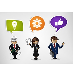 Business teamwork cartoon people vector
