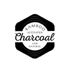 One hundred percent bamboo activated charcoal vector