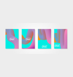 Fluid shapes set of abstract backgroundswith vector