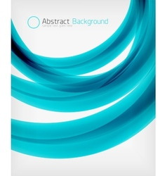 Elegant swirl shaped modern business template vector image