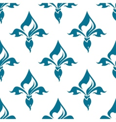 Classical french fleur-de-lis seamless pattern vector