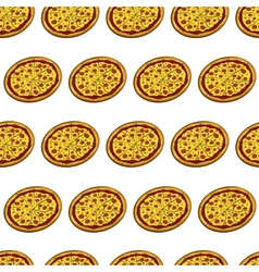 Pizza seamless vector image
