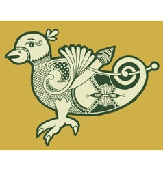 authentic decorative celtic bird vector image