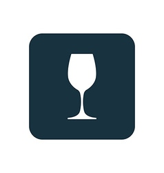 Wineglass icon rounded squares button vector