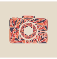 Camera icon polygon photo camera sign vector